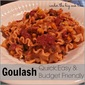 Frugal Food ~ Easy Goulash