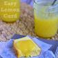 Homemade Microwave Lemon Curd