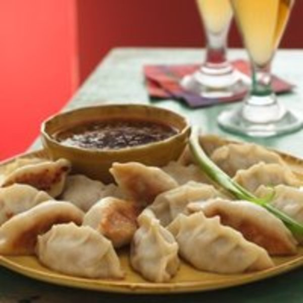 Pork Pot Stickers With Honey Chipotle Sauce