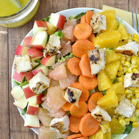 Sunshine Chopped Salad with Orange-Ginger Vinaigrette