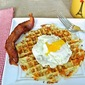 Hash Brown Waffle with a Fried Egg