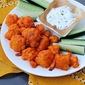 "Spicy Buffalo Cauliflower ""Wings"" with Homemade Ranch Dressing"