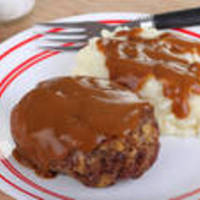 Easy Hamburger Steaks with Brown Onion Gravy