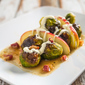 Roasted Brussels Sprouts with Apple, Pancetta, and Crème Fraîche