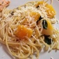 Butternut Squash and Baby Greens with Brown Butter Spaghetti