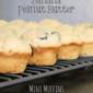 Chocolate Chip Banana Peanut Butter Mini Muffins #SRC