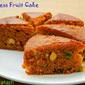 Eggless Fruit Cake (with condensed milk, caramel & soda)