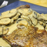 Steak with Creamy Mushroom Gravy