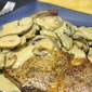 Steak with Creamy Mushroom Gravy