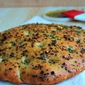 Focaccia with flavorful Herbed Oil
