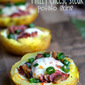 Philly Cheese Steak Potato Skins