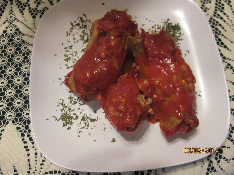 Involtini di cavolo ( Stuffed Cabbage)