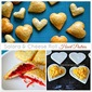 Salara + Cheese Roll Heart Pastries