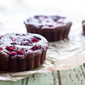 Dark Chocolate and Raspberry Brownie Tarts