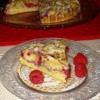 Raspberry Almond Coffee Cake - A treat for Valentine's Day!