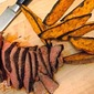 Pan-Seared Spice-Rubbed Steak with Roasted Sweet Potato Wedges