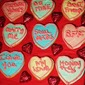 Conversation Heart Italian Cutout Cookies