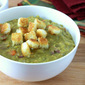 Slow Cooker Split Pea and Ham Soup with Homemade Croutons