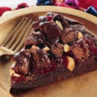 Cranberry Volcano Brownie