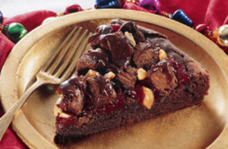 Cranberry Volcano Brownie