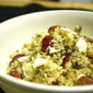 Bulgur Wheat Salad with Grapes, Goat Cheese, and Sunflower Seeds
