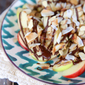 Chocolate-Peanut Butter Apples with Almonds & Coconut