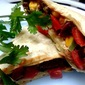 SPICY BEAN BURRITOS WITH SALSA AND SOUR CREAM~ from a scratch!
