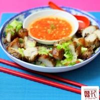 Siew Yoke (Chinese Roast Pork) With Chili Ginger Dip