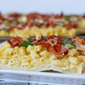 Macaroni and Cheese Pizza with Bacon and Green Onions
