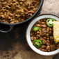 Peppery pinto beans and sausage