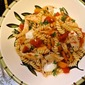 Pan-Seared Chicken Pasta with Roasted Pepper and Mozzarella