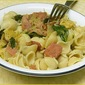 Pasta with Sausage, Spinach and Mushrooms