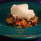Chilean Sea Bass Over A Roasted Vegetable Quinoa Medley