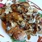 Pork Chops with Mushrooms in Dijon Sauce, snow...
