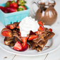 Chocolate French Toast with Strawberries {Baked!}