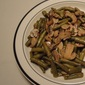Green Bean with Mushroom Saute