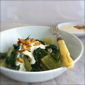 Cook the Books – Swiss Chard with Tahini, Yoghurt and Buttered Pine Nuts