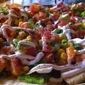 Nachos with Chicken, Bacon and Avocado Salsa