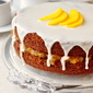 One Bowl Gingerbread Cake with Mango Vanilla Jam