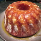 Glazed Apricot, Orange, Lemon Bundt Cake