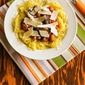 Slow Cooker White Bean, Mushroom, and Rosemary Spaghetti Squash Bowl