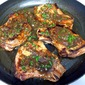 Oven-Roasted Pan-Seared Pork Chops with Cilantro-Butter Pan Sauce