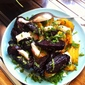 Mixed Roasted Beets with Goat's Cheese, Honey and Mint