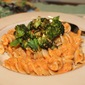 Artisanal Fusilloni w/ Roasted Red Pepper Romesco Sauce & Broccoli Crumble