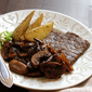 Steak with Mushroom and Caramelized Onion