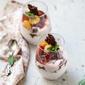 No Bake | Strawberry & Cape Gooseberry Quark Mousse … delicious eggless dessert in season #vegetarian