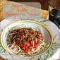 Vegetable Bolognese Sauce With Angel Hair Pasta