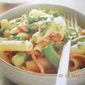 Rigatoni with bacon and asparagus