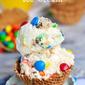 Monster Cookie Dough Ice Cream – No Machine Needed!