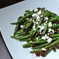 Roasted Green Beans with Sun-Dried Tomatoes and Goat Cheese